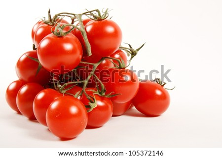 Close-up photo of tomatoes. Place for your text