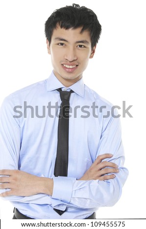close up photo of young business man ,isolated