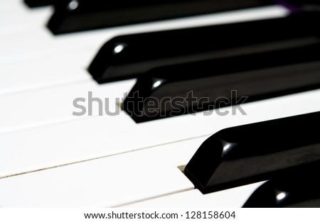 close up Piano key