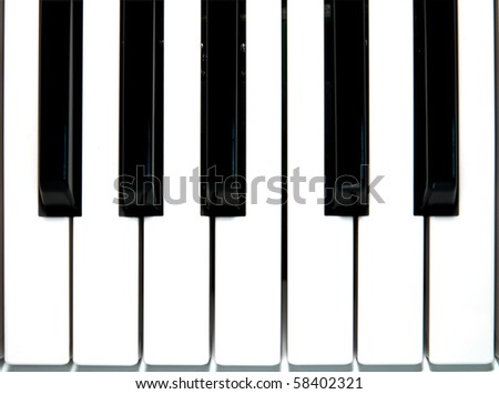 Close up piano key