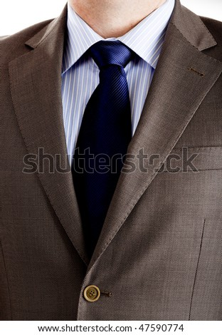 Close-up picture of a business suit with neck necktie