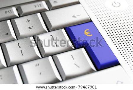 Close up picture of a keyboard with a dollar symbol.