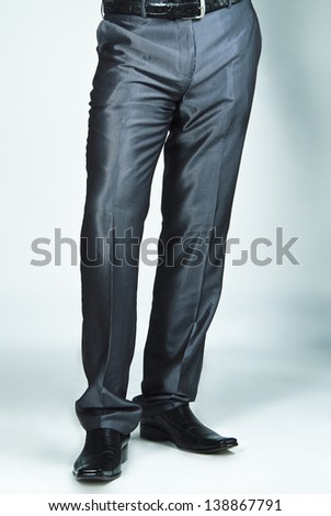 Close up picture of man's casual trousers.