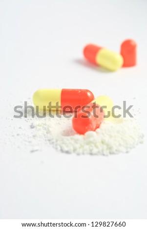 Close up pills./Pills. - stock photo
