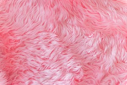 Close up pink fur texture or carpet for background.