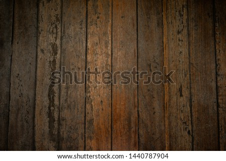 Close up plank wood table floor with natural pattern texture. Empty  wooden board  background. #1440787904