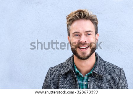 Shutterstock Close up portrait handsome smiling man with beard