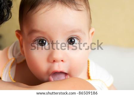 Close up portrait little boy