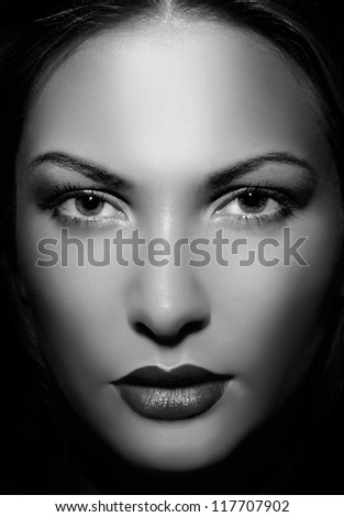 close up portrait of a beautiful woman