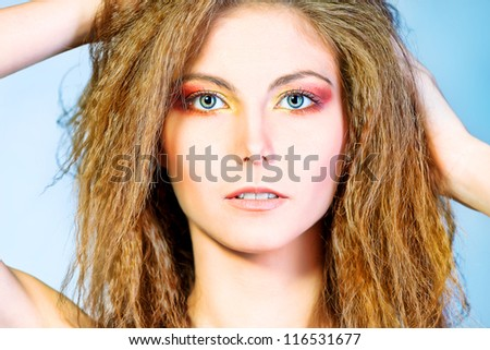 Close-up portrait of a beautiful young woman.