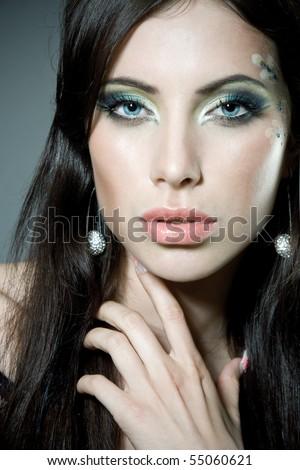 Close-up portrait of a gorgeous woman