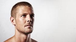 Close-up portrait of a handsome man