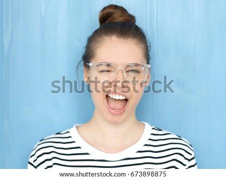 close up portrait of a happy...