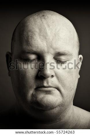 close up portrait of a male face