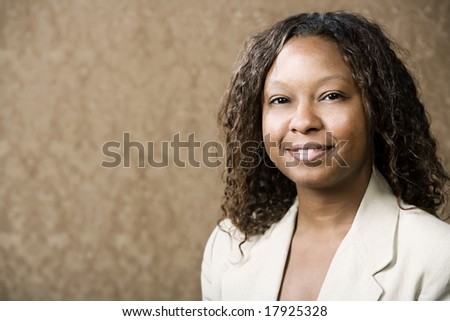 Close-Up Portrait of a Pretty African-American Woman - stock photo