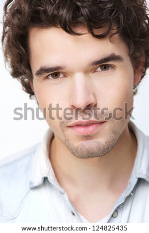 Close up portrait of an attractive man