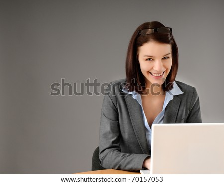Close-up portrait of attractive young business woman
