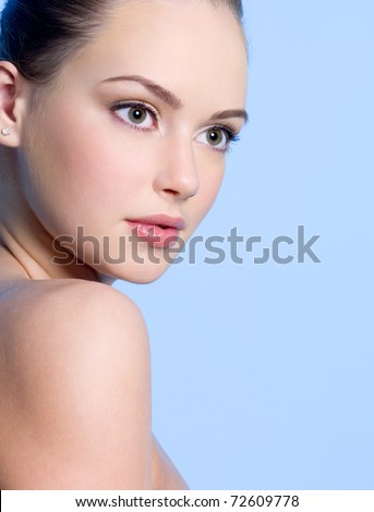 stock photo close up portrait of beautiful young teen girl with clean skin 72609778 The QTH locator is used by radio amateurs to exchange their geographic ...