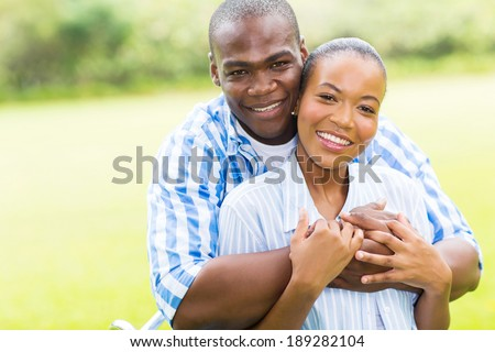 close up portrait of happy young african american couple