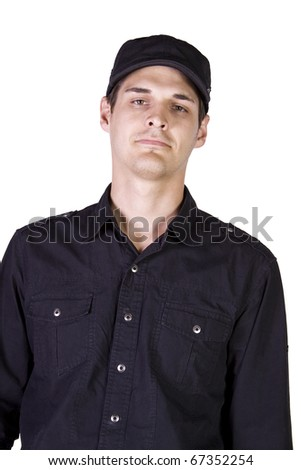Close up  portrait of young business man - Isolated Background