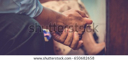 Close up prayer's hand pray in church, Pastor pray to God, with blank copy space - Shutterstock ID 650682658