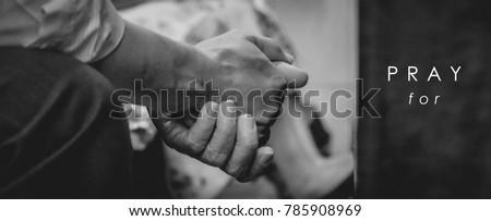 Close up prayer's hand pray in church,  pray to God, Pray for  with blank copy space #785908969