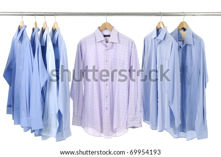 Close-up rack shirts