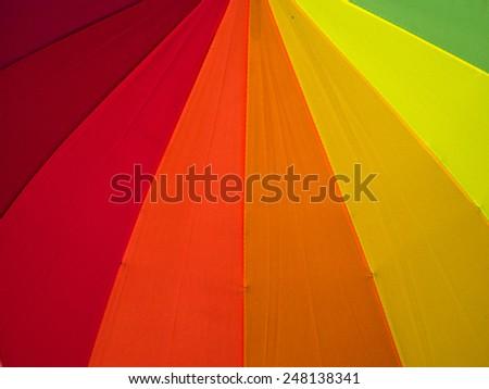 close up rainbow umbrella
