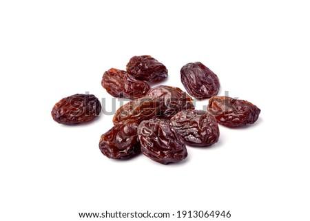 Close-up Raisins isolated on white background. Stock photo ©