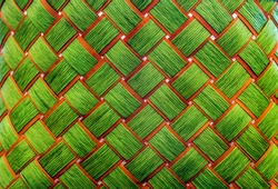close up rattan texture in basket line with craft handmade for background