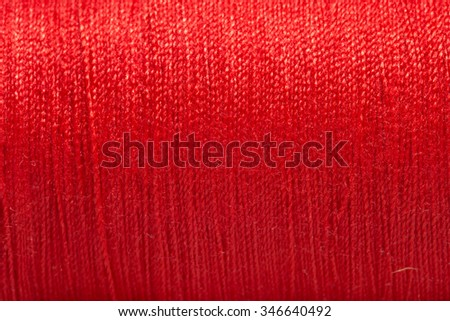 Close up red thread texture. #346640492