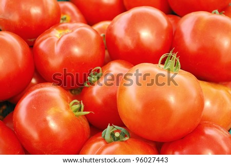 Close up red tomato
