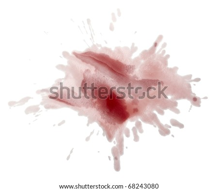 close up red wine stains on white background