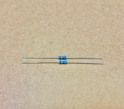 Close up resistor 10 ohm
