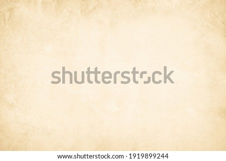 Close Up retro plain cream color cement wall background texture for show or advertise or promote product and content on display and web design element concept. Old concrete wall texture background. Stock photo ©
