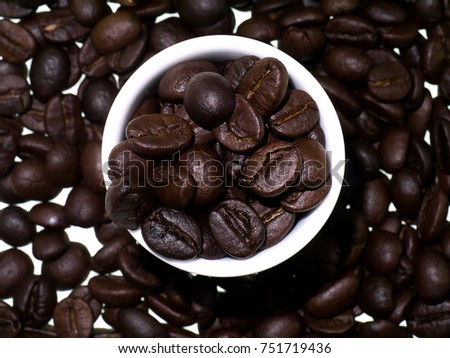 Close up roasted coffee beans. #751719436