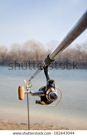 Close-up rod for fishing on a background of nature in spring #182643044