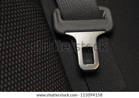close up safety belt in a car