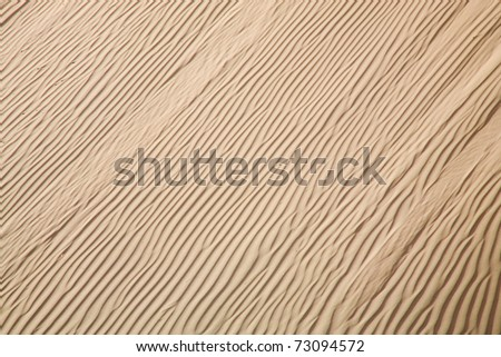 Close up sand of the Skeleton Coast, Namibia - stock photo
