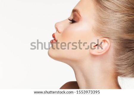 Close - Up shoot of Beautful Woman Photo stock ©