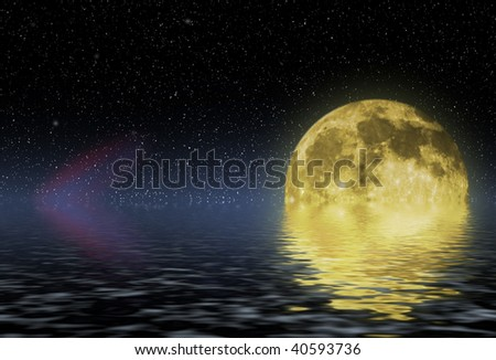 close up shot of a full moon against black background