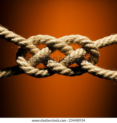 Close up shot of a rope with a knot