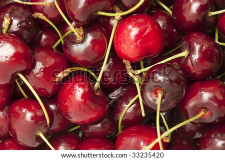close up shot of a tasty cherries background