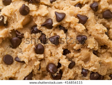 Close up shot of chocolate chip cookie dough. Stock photo ©