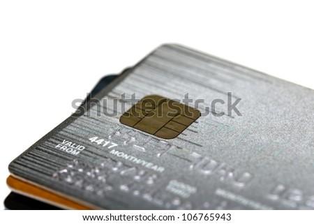 Close up shot of credit card