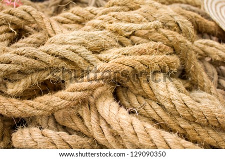 close up shot of manila rope