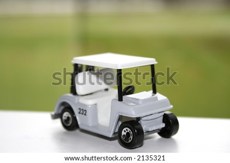 Close up shot of miniature golf cart