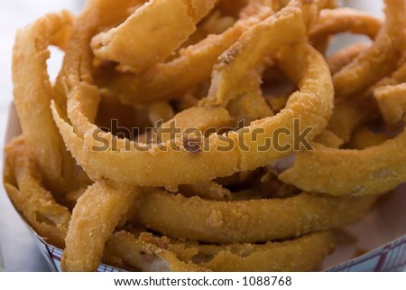 Close up shot of Onion Rings