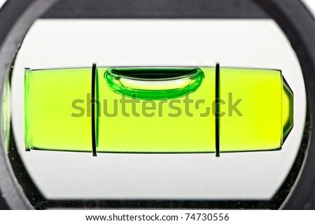 close up shot of spirit level for construction work