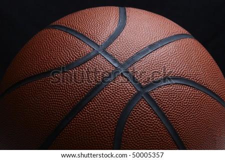 close up shot of textured orange basketball